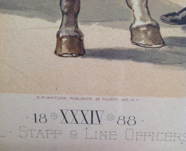 Vintage Ha Odgen Print - Major-General Staff c.1888 - 4