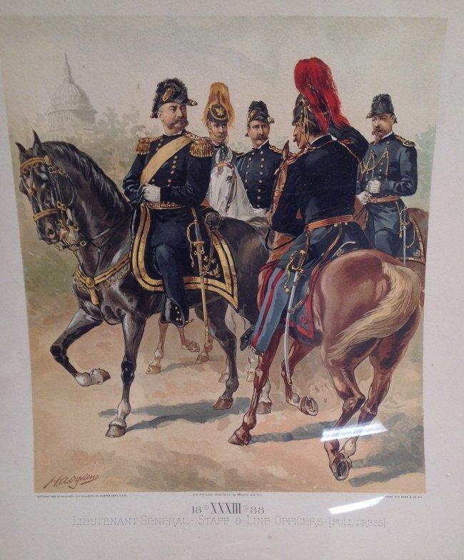 Vintage Ha Odgen Print-Lt. General Staff  c.1888