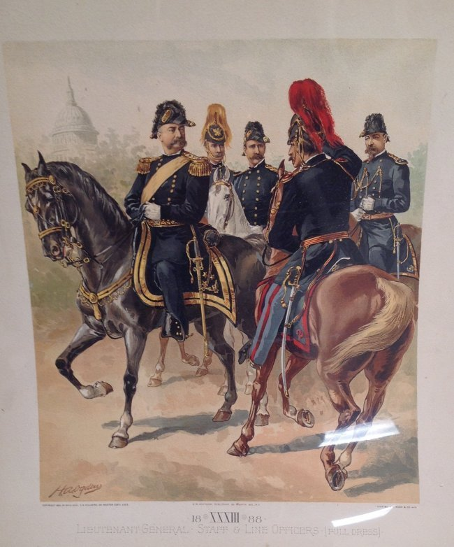 Vintage Ha Odgen Print-Lt. General Staff  c.1888 - 3