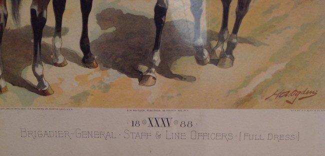 Vintage Ha Odgen Print: Brigadier-General Staff c.1888 - 2