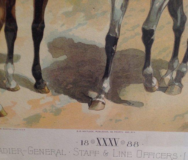 Vintage Ha Odgen Print: Brigadier-General Staff c.1888 - 3