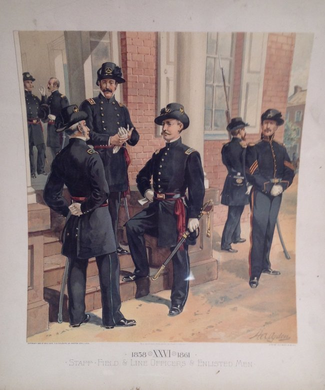 Vintage Ha Odgen Print: Staff Field & Line Officers