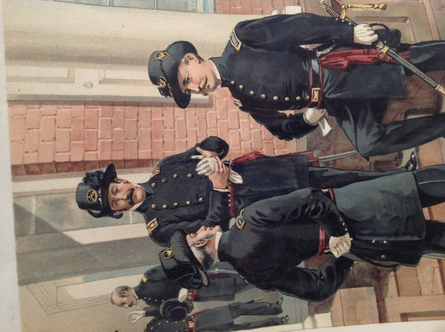 Vintage Ha Odgen Print: Staff Field & Line Officers - 2