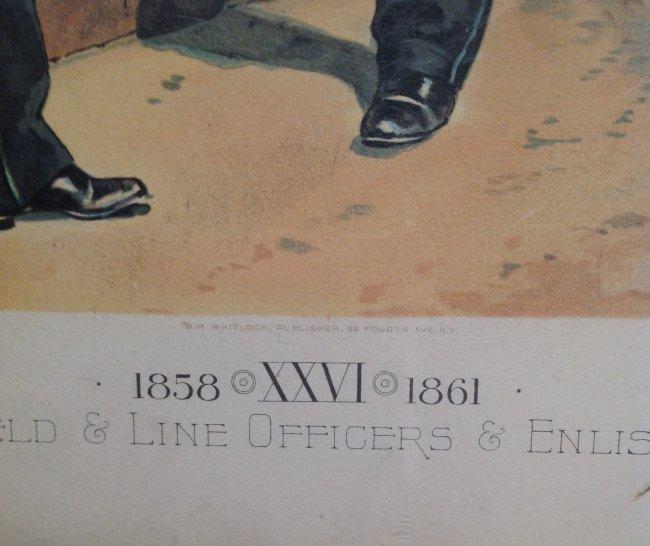 Vintage Ha Odgen Print: Staff Field & Line Officers - 3