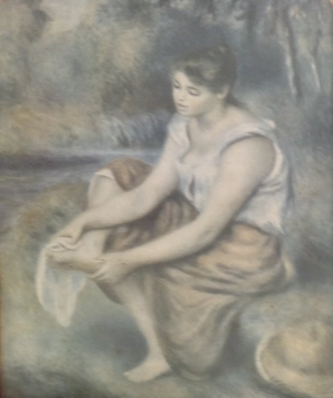 Vintage Print- Woman at the Waterfalls