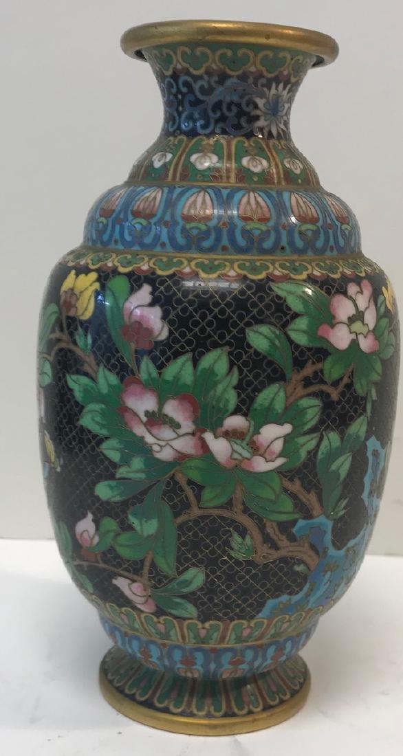 Antique Floral Cloisonne vase