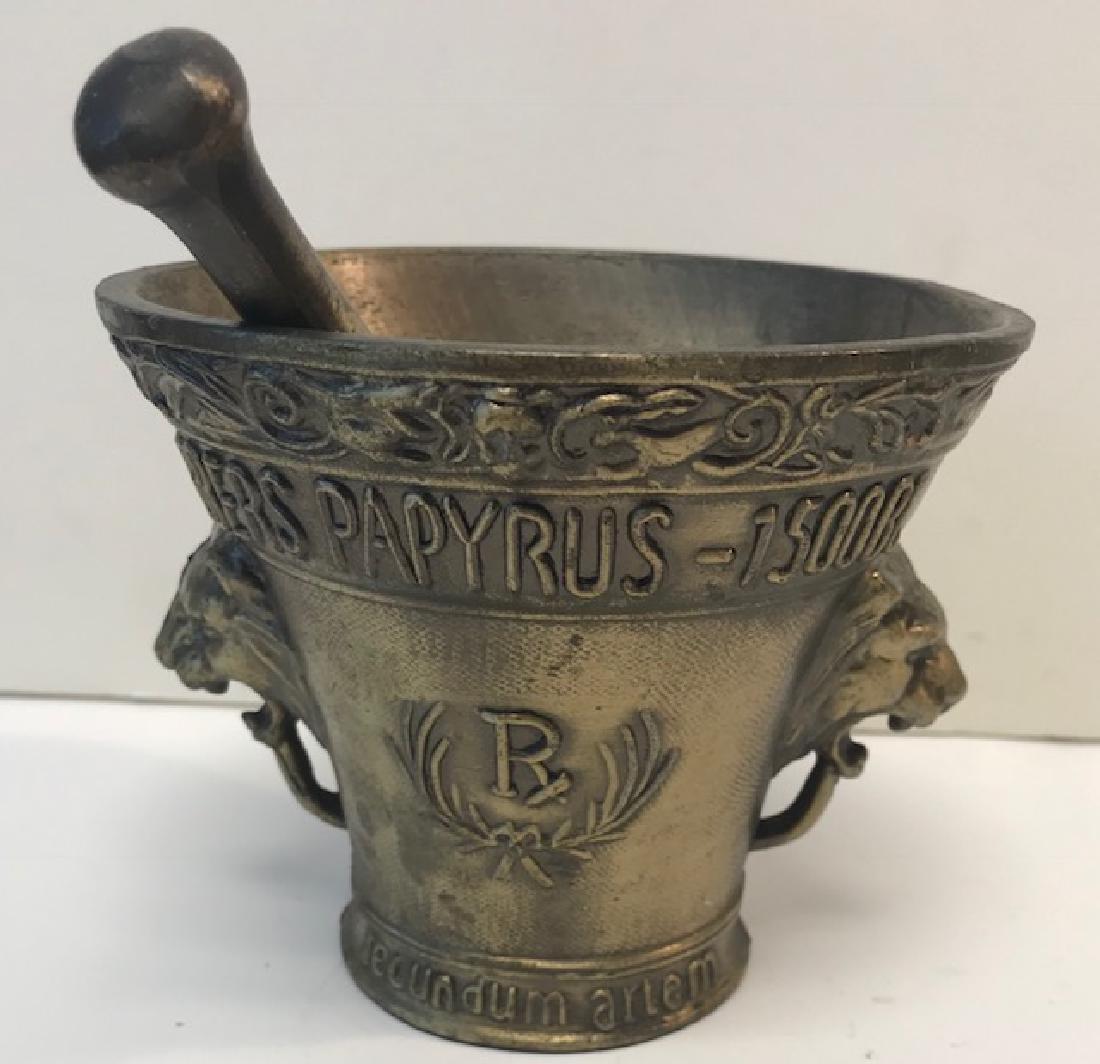 Dispensary Mortar & Pestal brass Bowl
