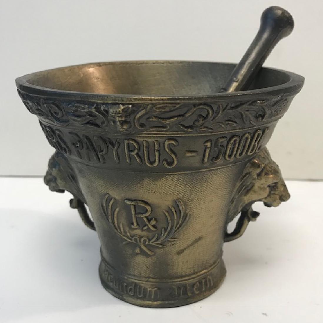 Dispensary Mortar & Pestal brass Bowl - 2