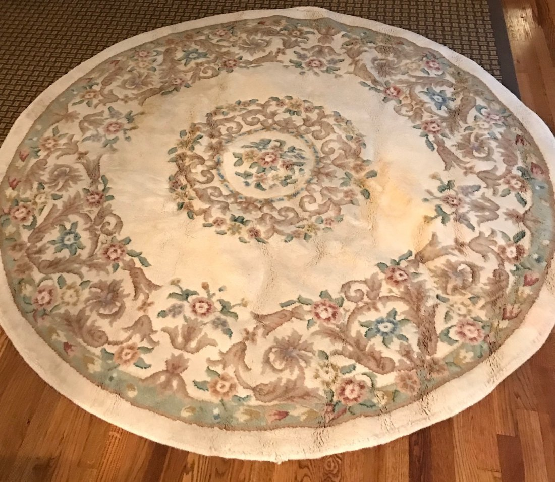 Vintage Indian Hand Made Wool Rug 85 x 85