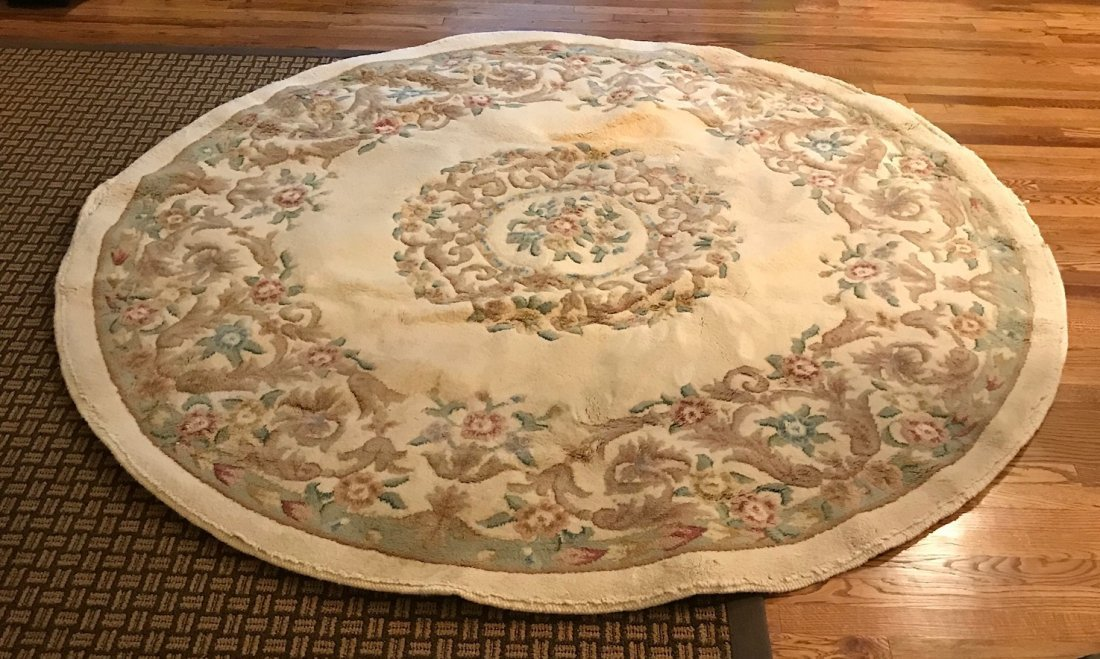 Vintage Indian Hand Made Wool Rug 85 x 85 - 2
