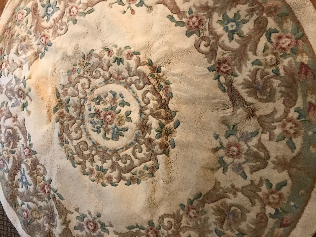 Vintage Indian Hand Made Wool Rug 85 x 85 - 4
