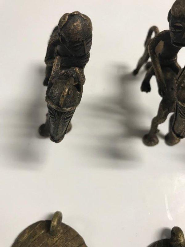 10 Brass Africa Benin Rep Small primitive figurines - 6