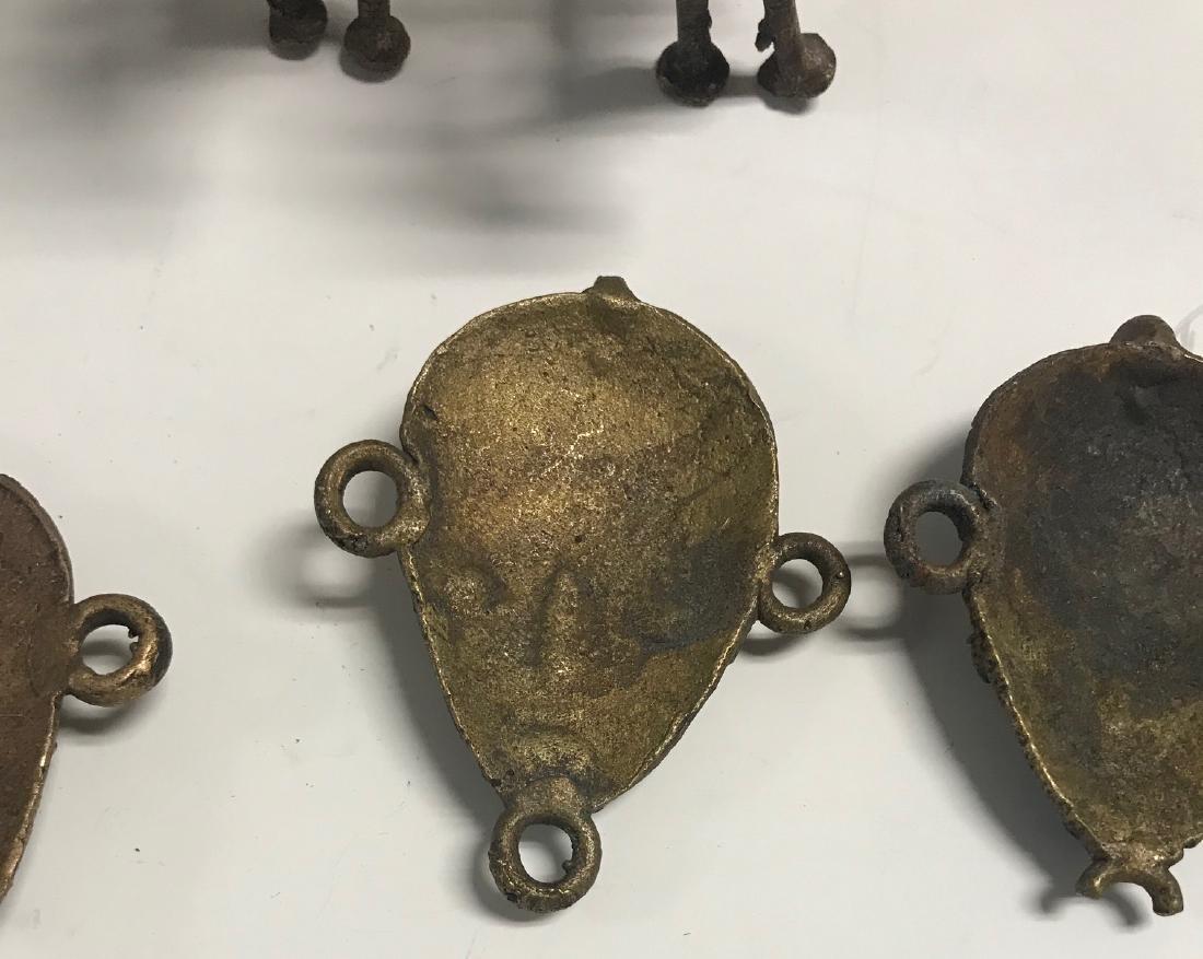 10 Brass Africa Benin Rep Small primitive figurines - 7