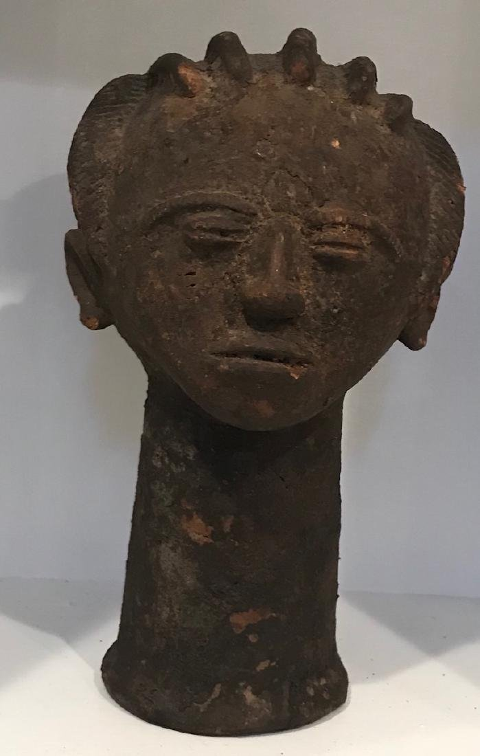 Africa Ghana Clay female facial statue 20th Century