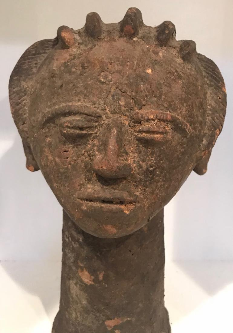 Africa Ghana Clay female facial statue 20th Century - 3