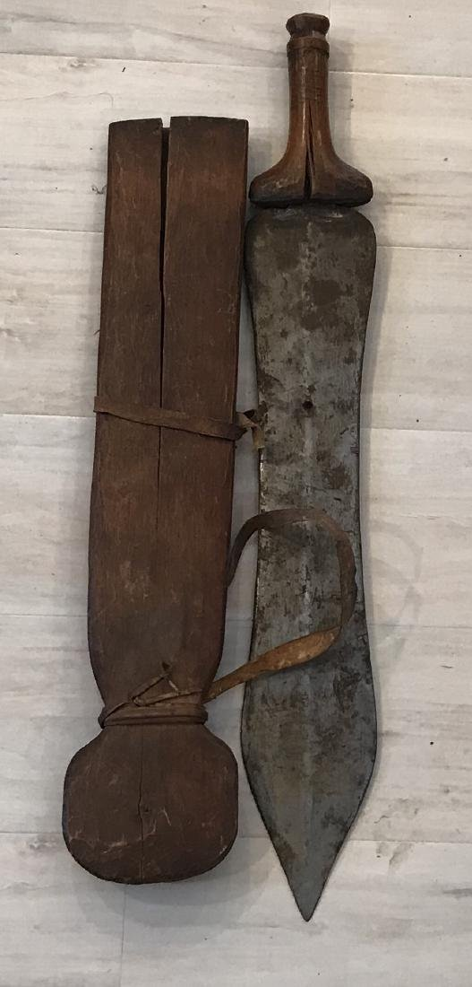 African Primeval 20th century Machete with Scabbard - 5