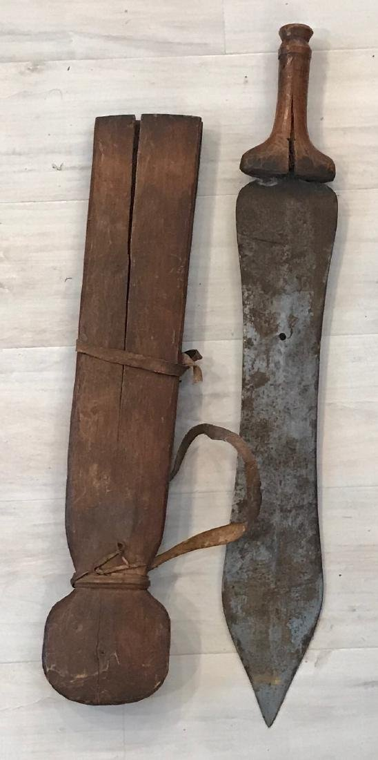 African Primeval 20th century Machete with Scabbard - 7