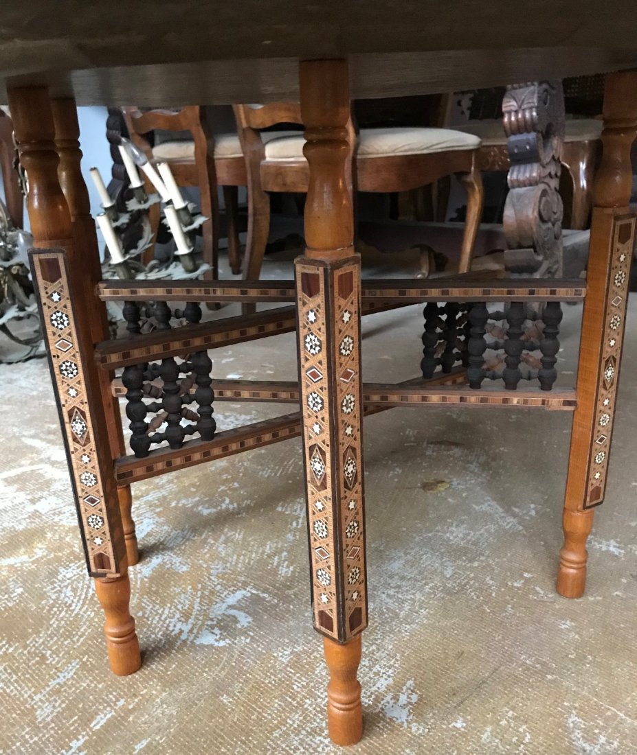 Gorgeous Bronze Moroccan Tray /table With base - 4