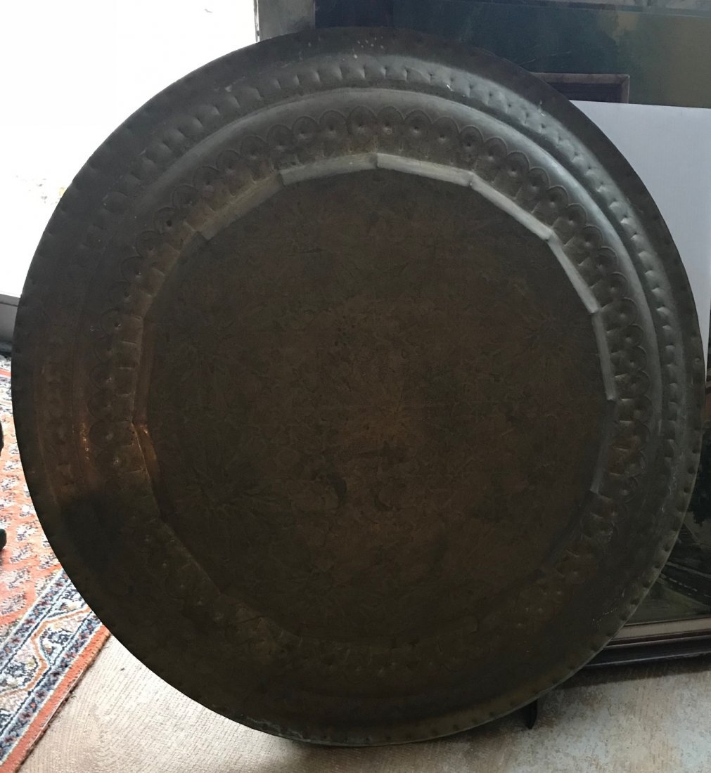 Gorgeous Bronze Moroccan Tray /table With base - 8