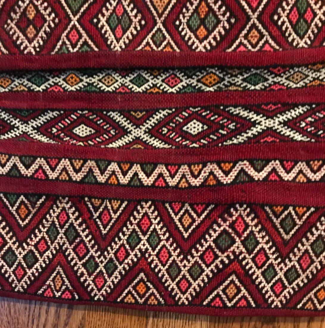 Vintage Wool Morocco Saddle Sack - 4
