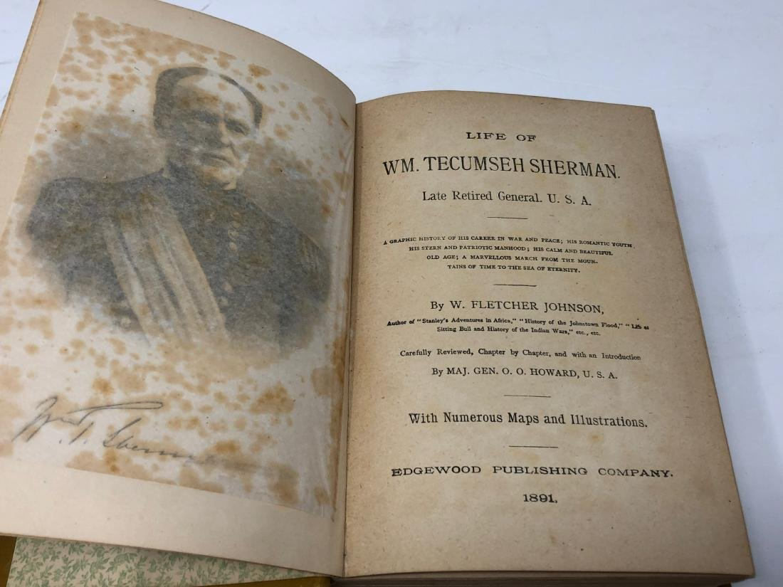 1st Edition, The Life of General Tecumseh Sherman, 1891 - 4