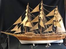 Tall Wooden Sailing Ship