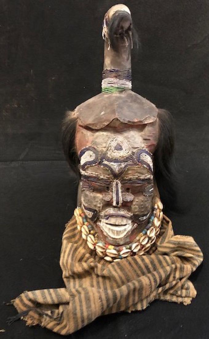 Antique 19th century KUBA Helmet Mask Congo