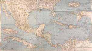Vintage National Geographic Magazines Map of Mexico