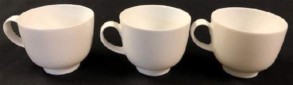 """3 Rosenthal China #100 """"Linze"""" Footed Cups"""