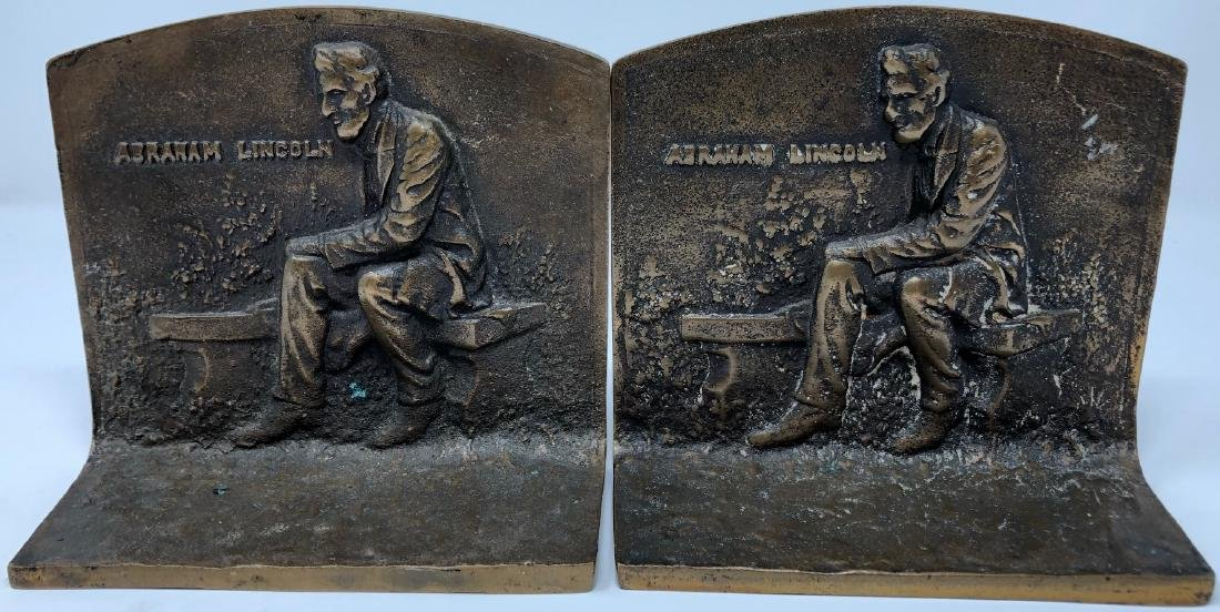 Bronze Abraham Lincoln Bookends