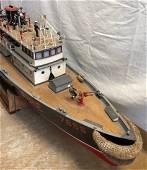 Wooden Model Fire Boat 7655