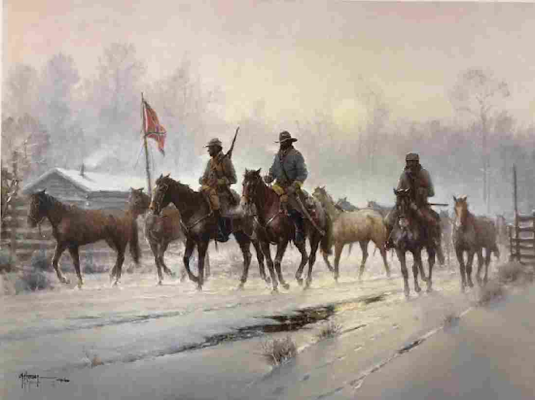 """G. Harvey, """"Horses for the Confederacy"""" Lithograph"""