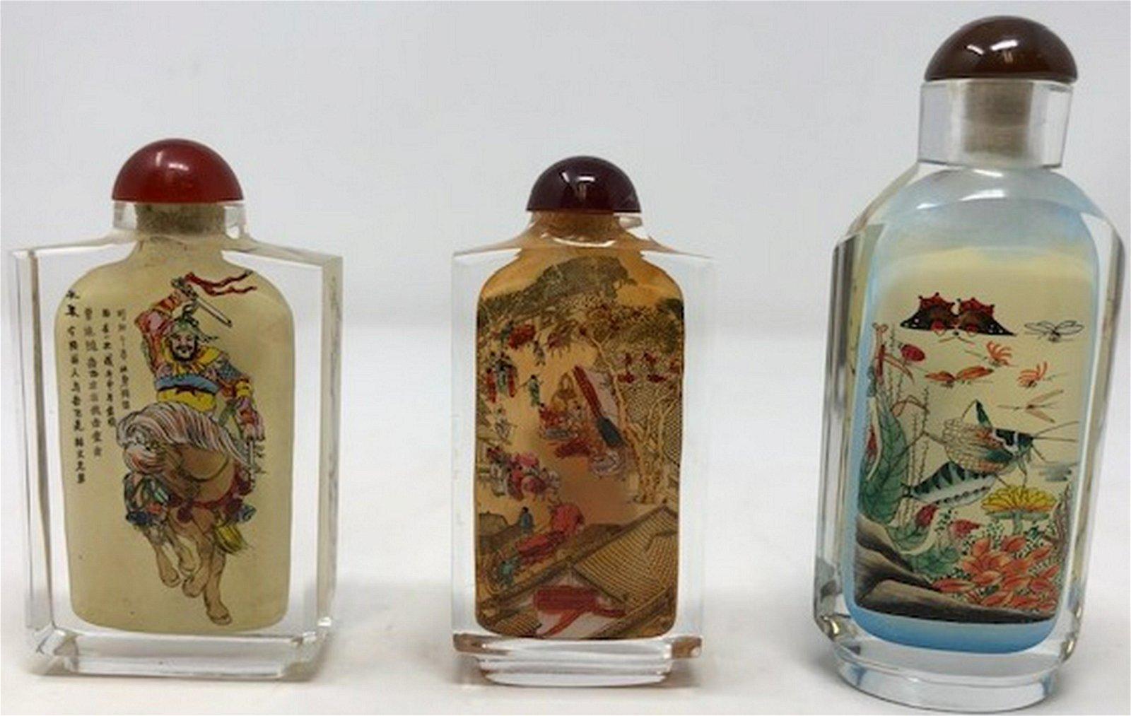 Asian Glass Snuff Bottles