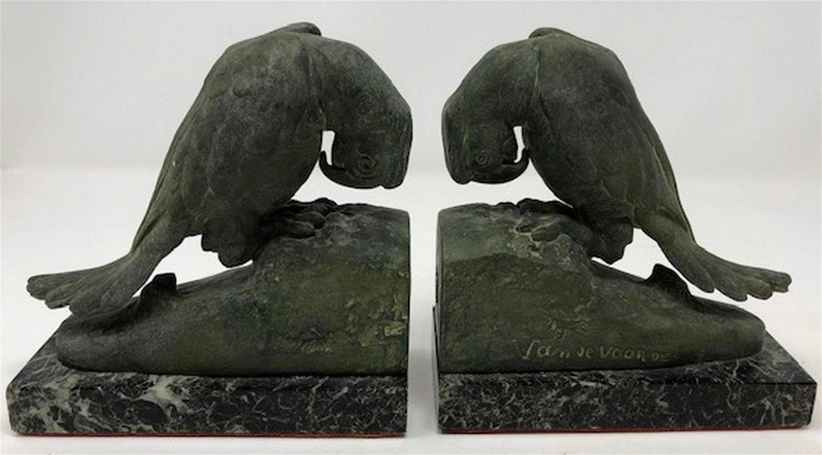 Sublime Van deVoorde Bird Statues