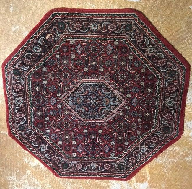 Unique Octagon Shaped Persian rug.