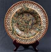 Decorative Vintage Asian Porcelain Platter