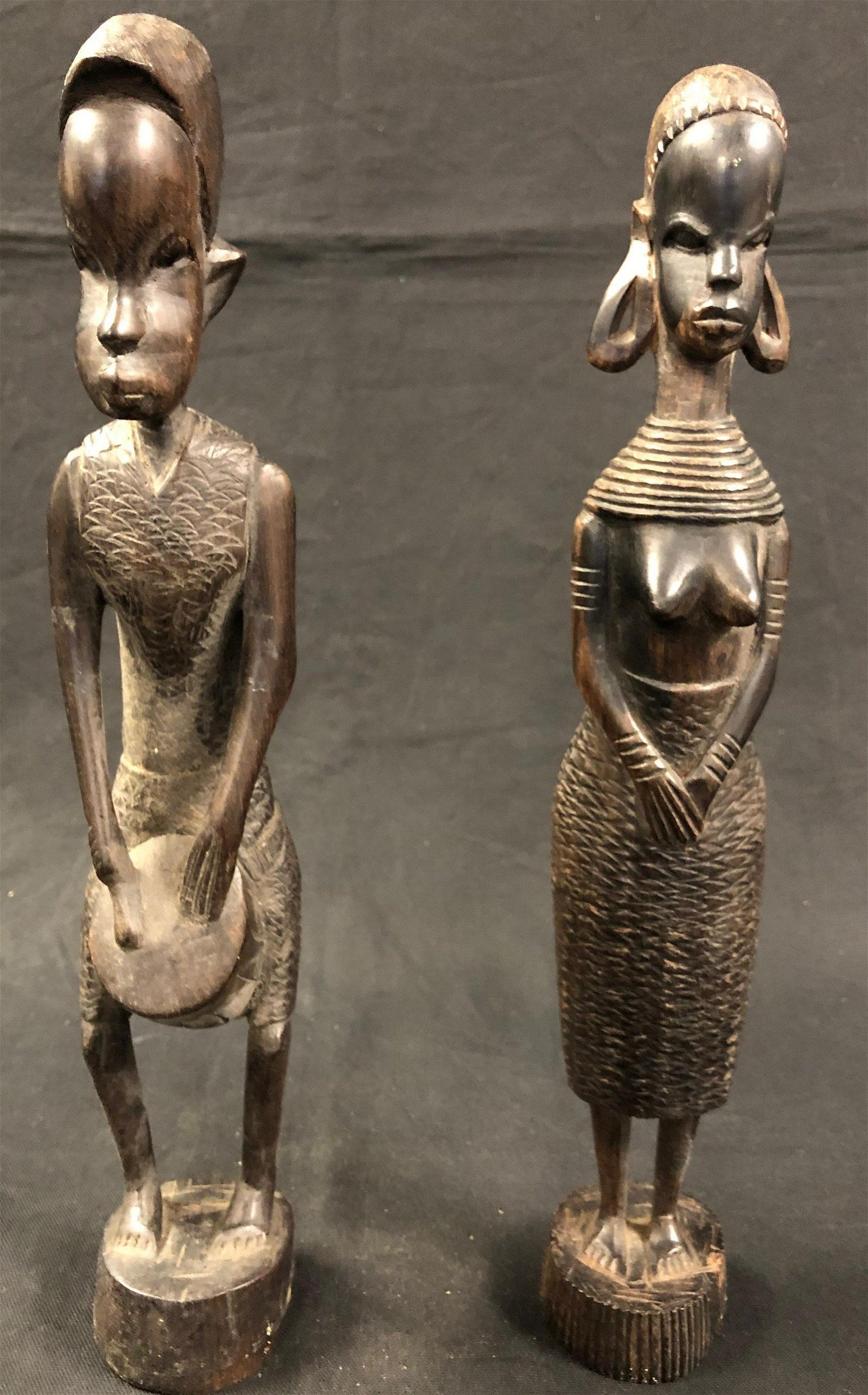 Primitive African Wood Carvings of a Couple