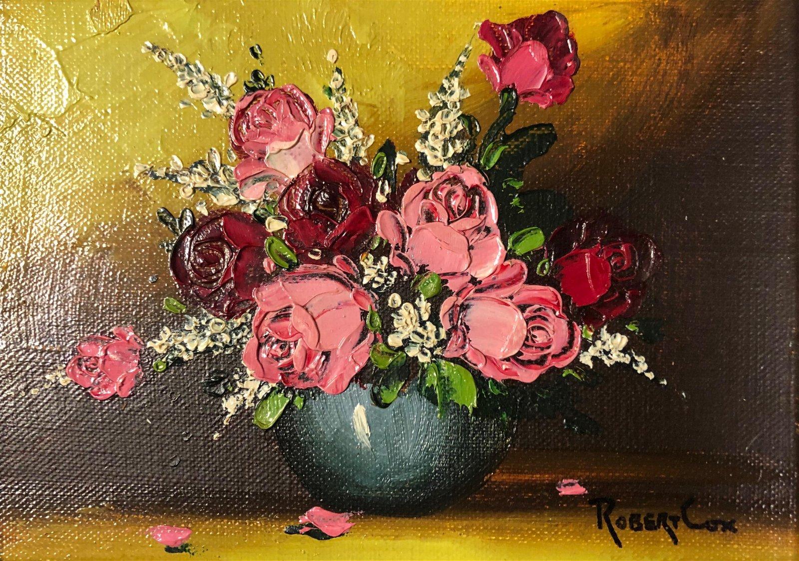 Robert Cox Floral Still Life Oil Painting