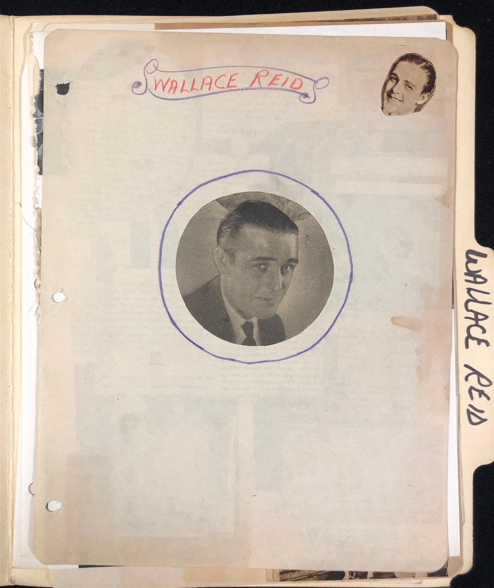 Wallace Reid scrapbook