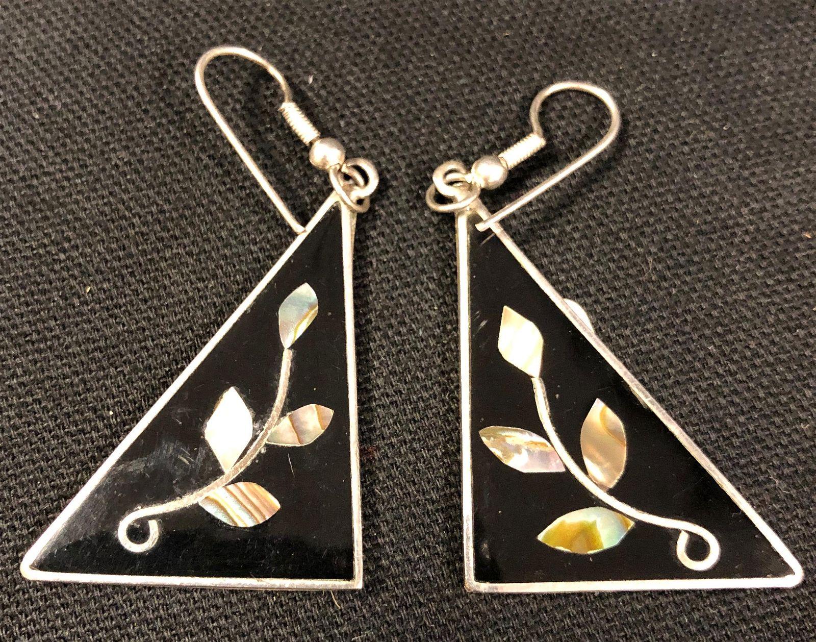 Vintage Mexican Alpaca Earrings