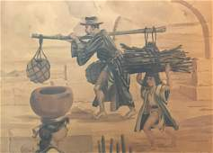 1945 Leo Nowak Watercolor Painting 15 x 20