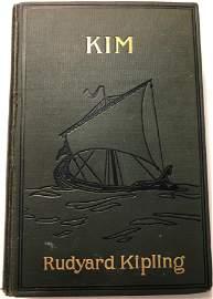 Kim, Rudyard Kipling, hardcover, used 1901