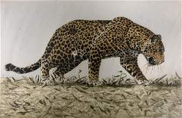 Artist Signed Limited Edition  Lithograph/ Leopard