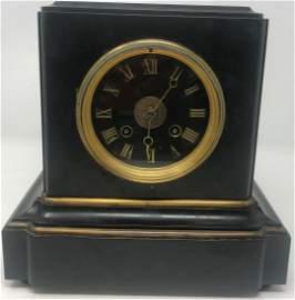 """Heavy Tiffany Clock; 9"""" x 9""""; 4"""" clock face; body may"""