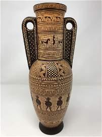 signed D. Vassilopous 5-3-1957, Greek vase, Name of the