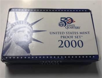 2000 S United States Mint Proof Sets  2 LOTS