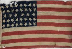 POST Civil War US UNION Flag 38 Stars W/ Markings