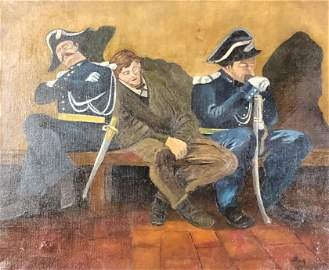 Signed Oil on Canvas Painting Dated 1914,