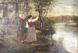 After W Ridgeway Knight, Oil painting