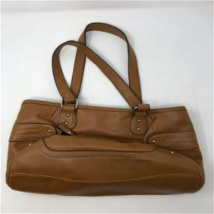 NINE WEST deep brown leather satchel